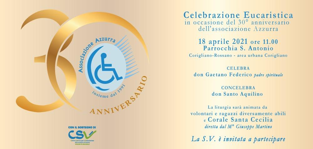 Celebrazione Eucaristica 30°Anniversario Associazione AZZURRA